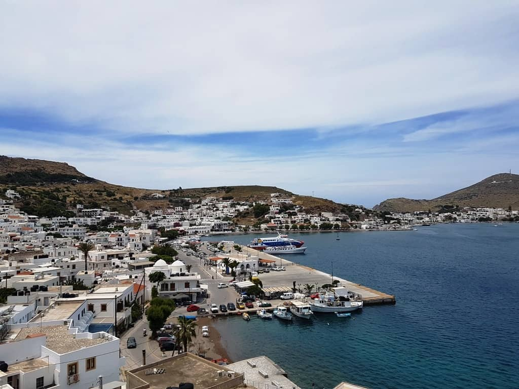 The view from Agia Paraskevi in Skala Patmos