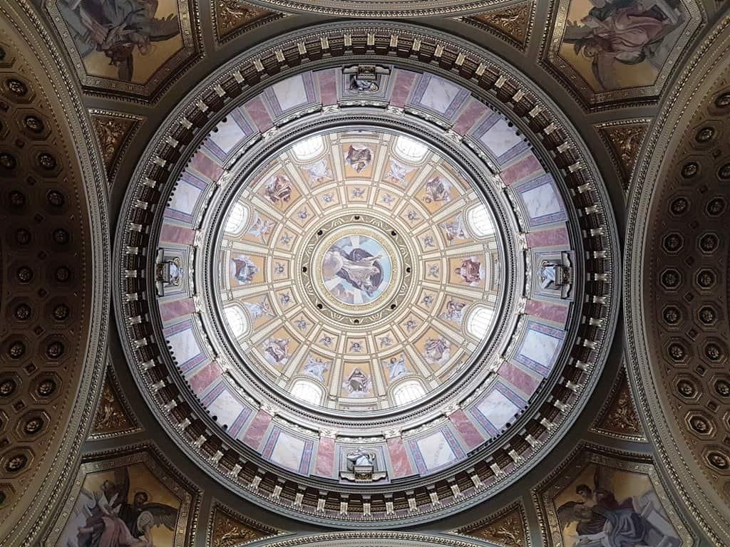 inside St. Stephen's Basilica -3 days in Budapest
