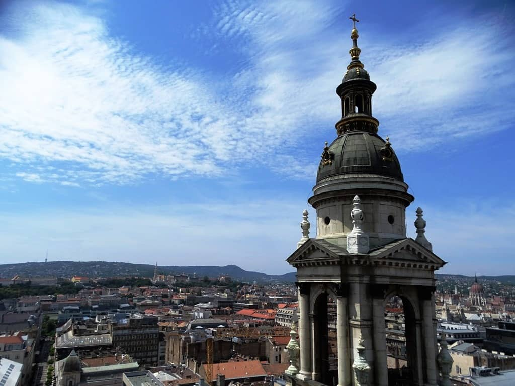 the view from St Stephens Basilica