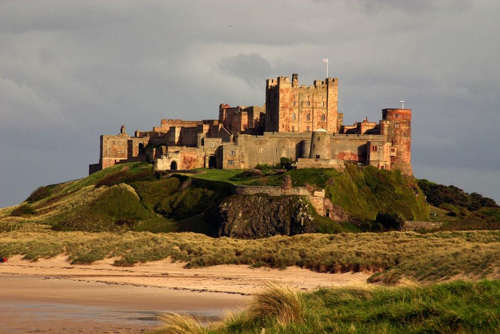 Bamburgh castle - day trips from Newcastle