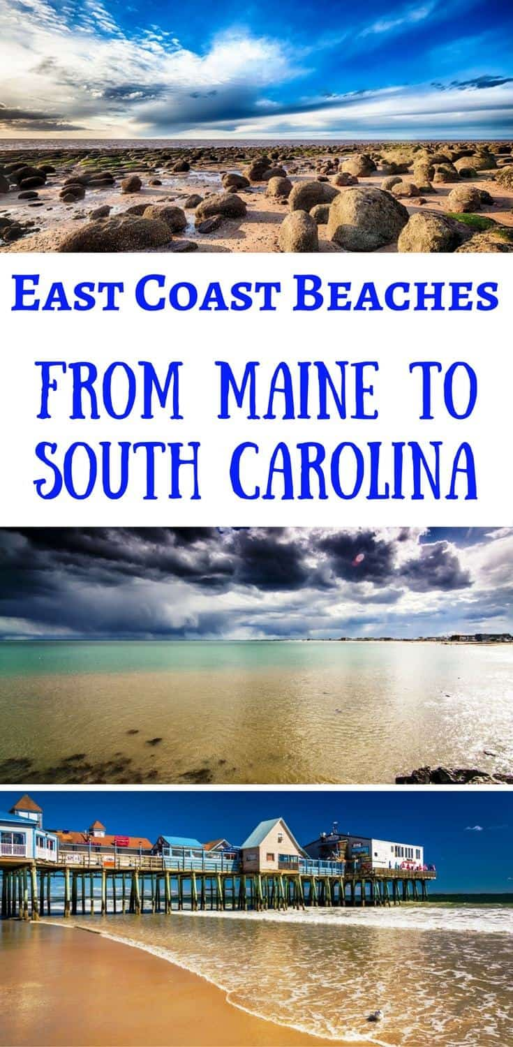East Coast Beaches from Maine to South Carolina