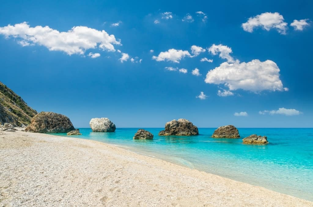 Megali-Petra-Beach -The Best Lefkada Beaches