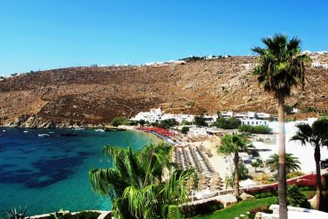 Psarou Beach The best Mykonos beaches