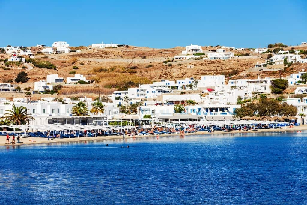 Ornos beach The best Mykonos beaches