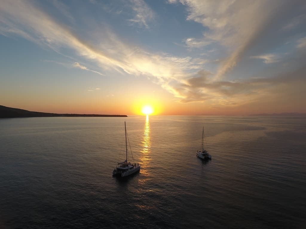 Catamaran Sunset Cruise, Santorini