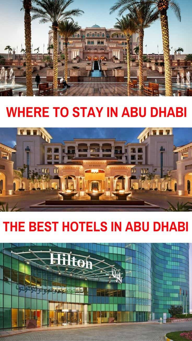 Where to stay in Abu Dhabi, the best hotels in , Abu Dhabi the best luxury hotels, mid-range hotels and budget hotels in Abu Dhabi