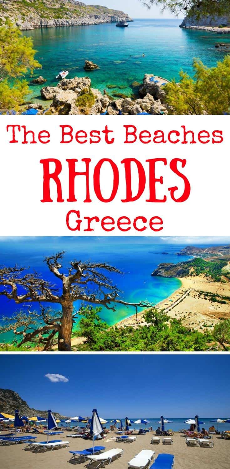best beaches in rhodes greece - best rhodes beaches Greece