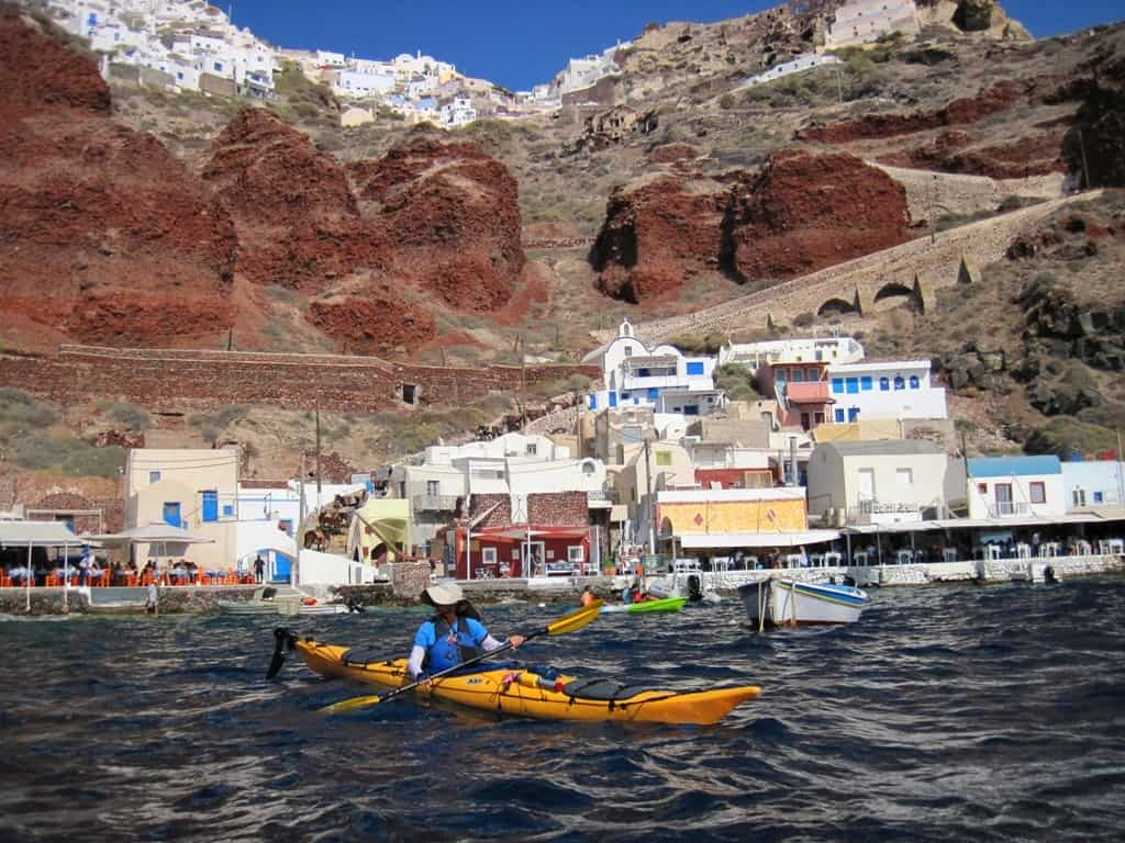 kayaking in santorini The Best Santorini Tours