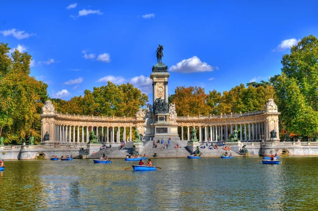 Retiro Park -3 days in Madrid what to do and see