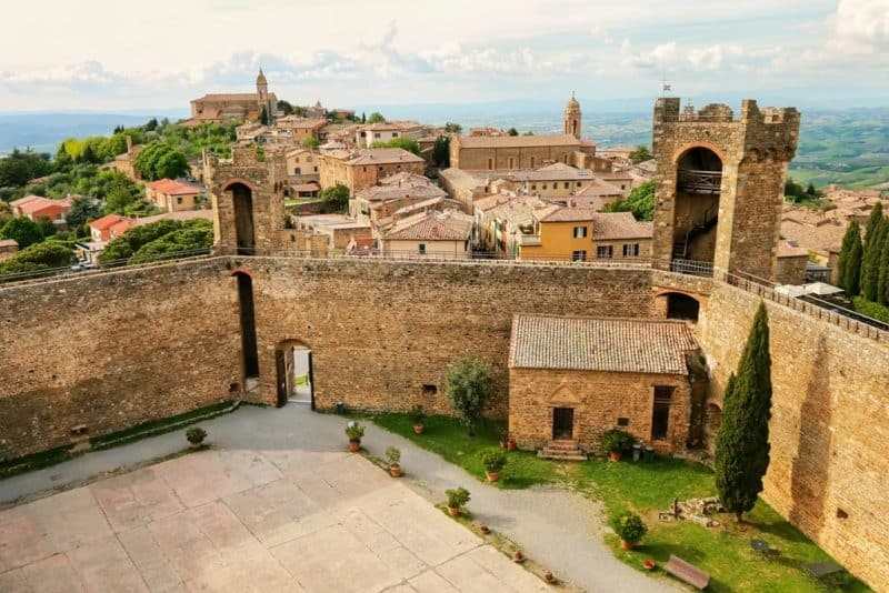 Montalcino -hilltop villages and towns in Tuscany