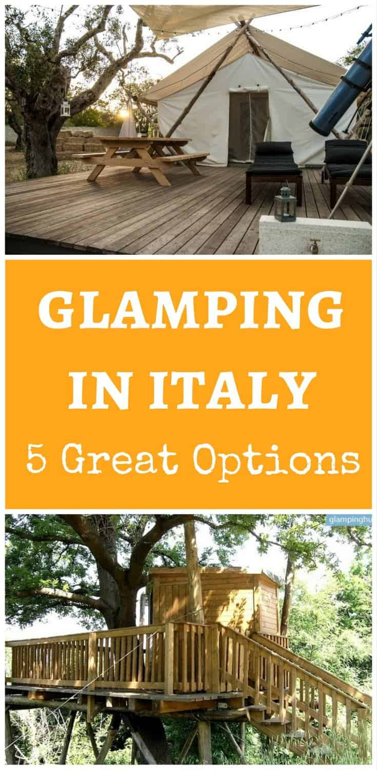 Looking for an alternative holiday? Why don't you try glamping in Italy and stay in luxury tents or a tree house?