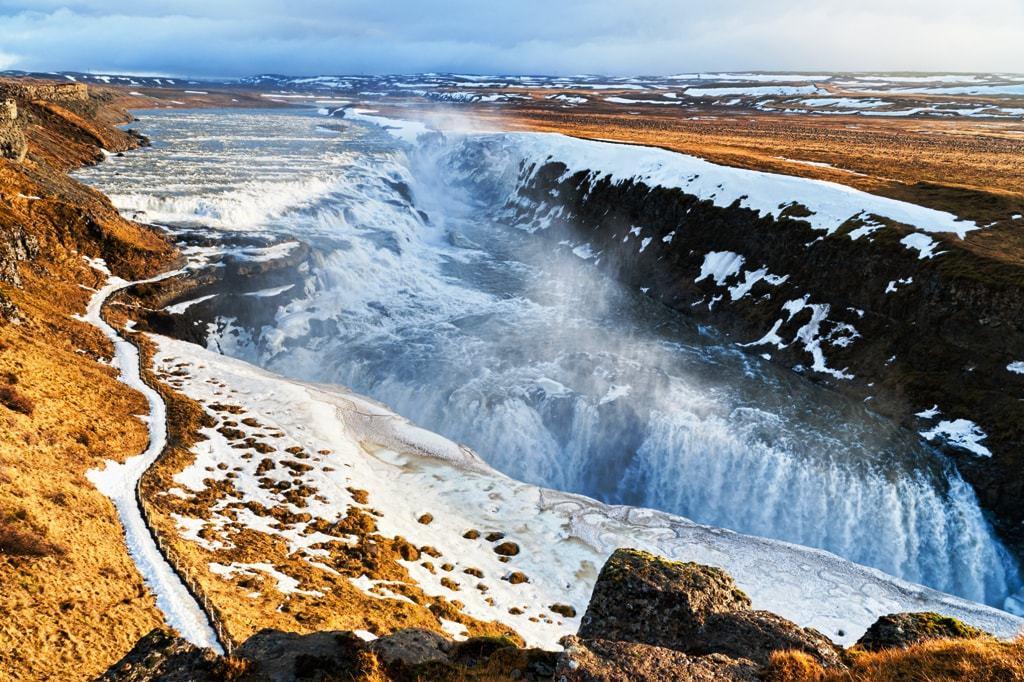 Gullfoss Waterfall in Iceland -day trips from Reykjavík, Iceland