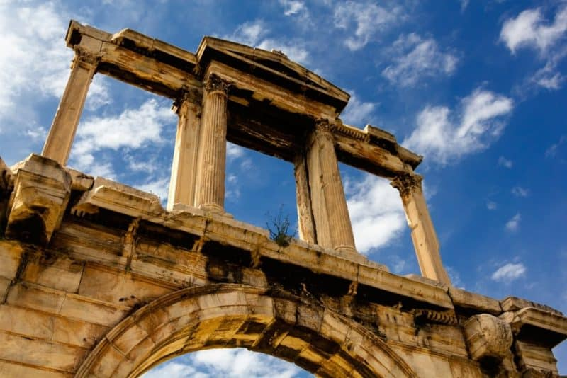 Hadrian's Arch -what to do in Athens in 3 days