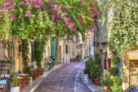 Traditional houses in Plaka - a 3 day Athens itinerary