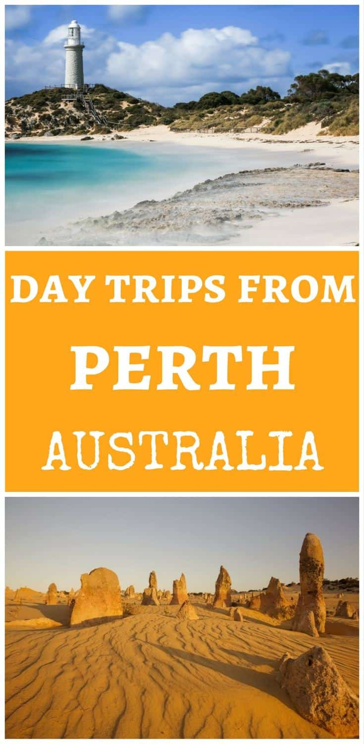 The best day trips from Perth Australia including Fremantle, Rottnest island, Pinnacles Desert at Nambung National Park and more