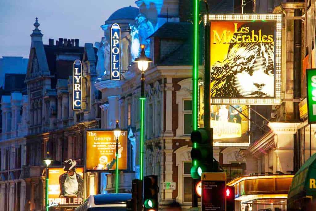 things to do in London in winter - see a west end show