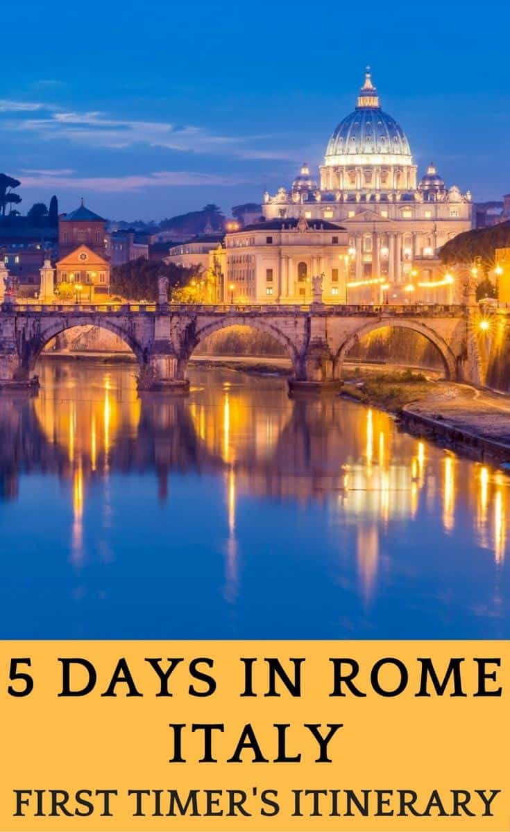 Planning a trip to Rome, Italy? In this guide to Rome you will find the best things to do in Rome in 5 days, a great 5 day itinerary to Rome.
