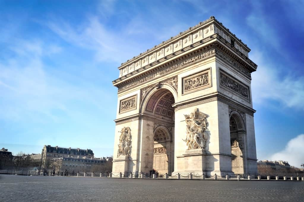 Arc de triomphe- Paris in 7 days itinerary
