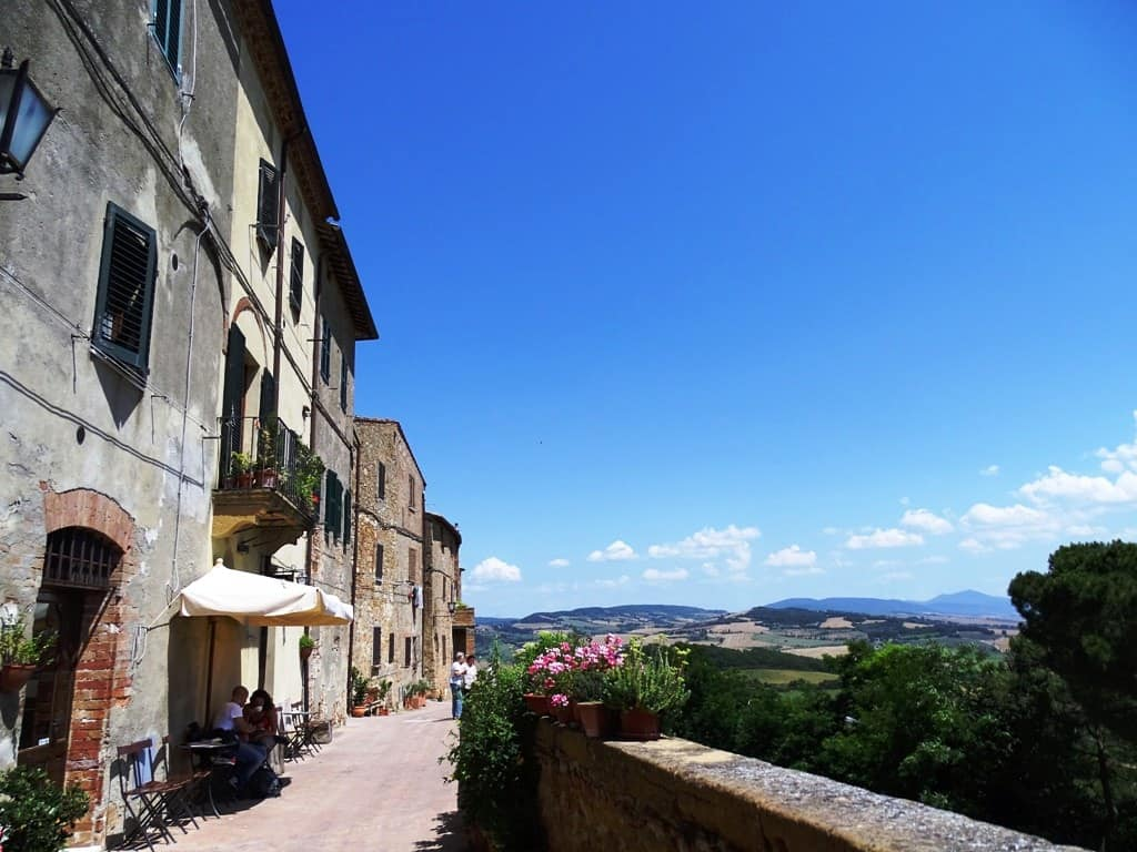 Pienza - hilltop villages and towns in Tuscany