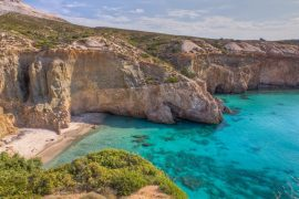 Tsigrado beach -The Best Milos Beaches
