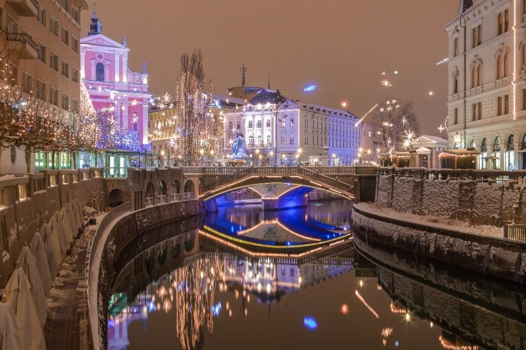 Ljubjlana - Best European cities to visit in winter