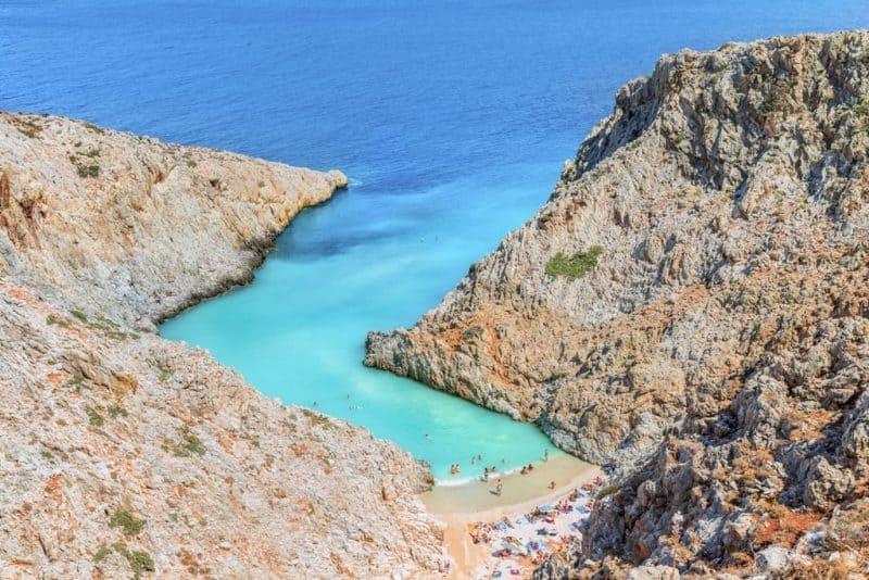 Stefanou beach ( Seitan Limania ) -Best beaches in Crete