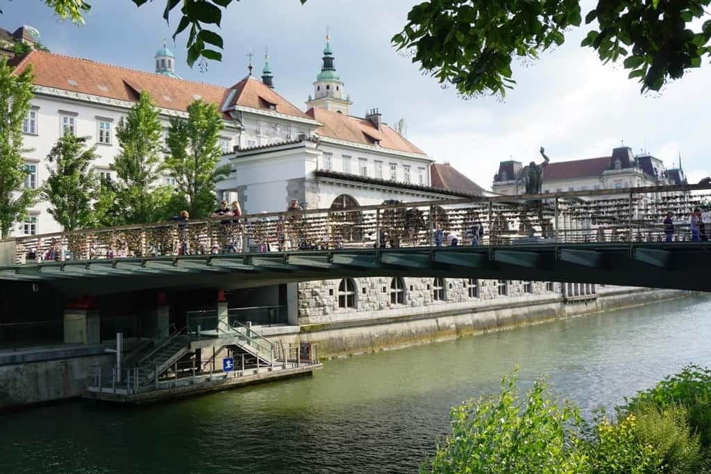 Butchers' Bridge -What tο do in Ljubljana