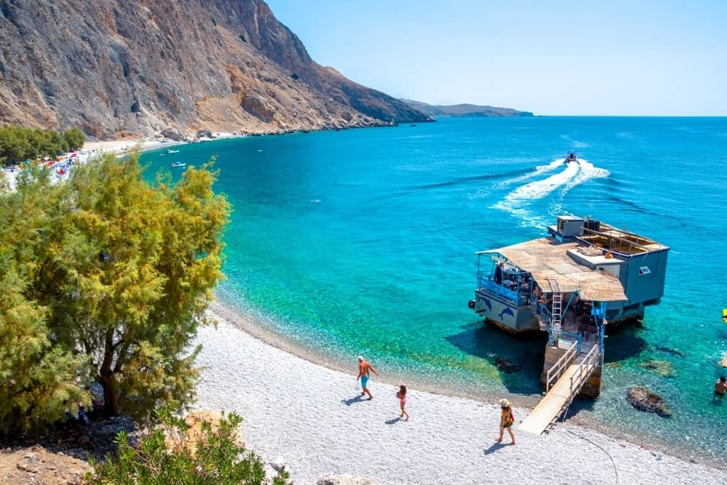 Glyka Nera beach (Sweet Water ) Best beaches in Crete