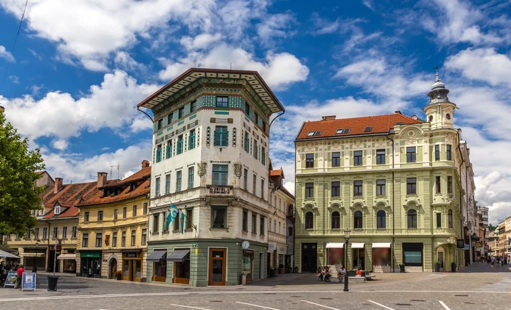 Hauptmann's House on Preseren Square -Things to do in Ljubljana