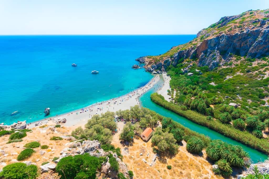 Preveli beach -Best beaches in Crete
