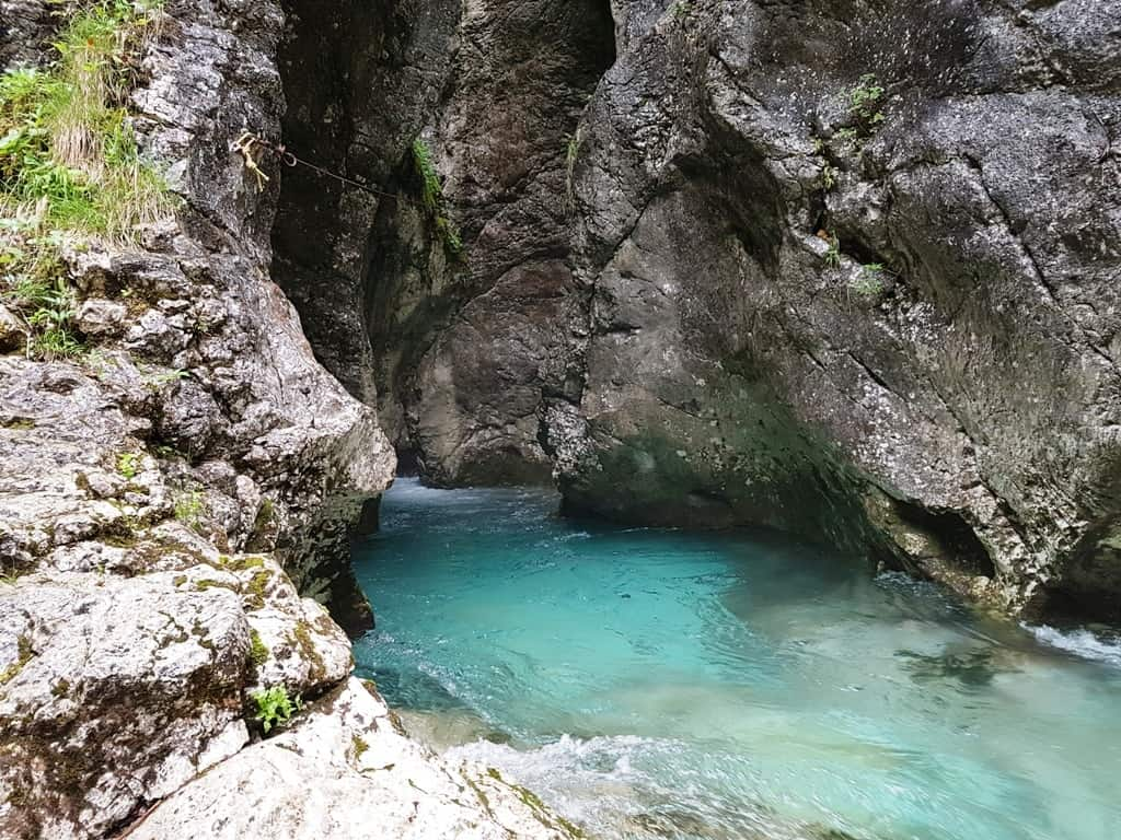 Kamniška Bistrica at the Predaselj Gorge