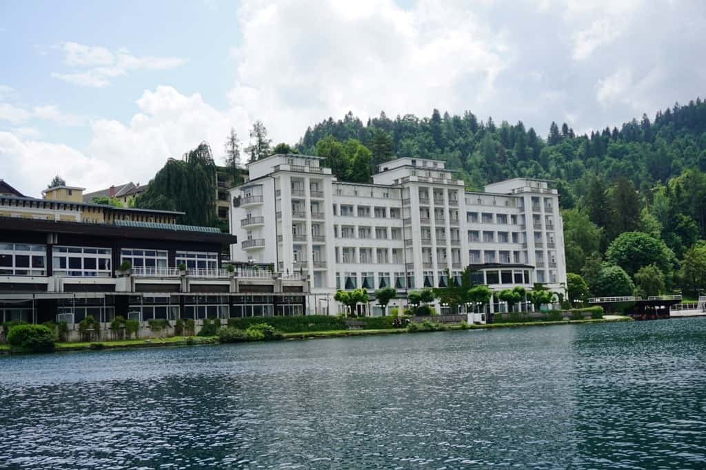 Grand Hotel Toplice As Seen From The Lake