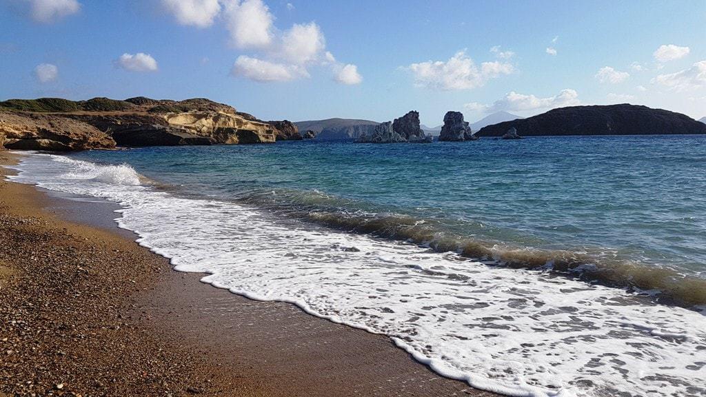 Mavrospilia beach Kimolos