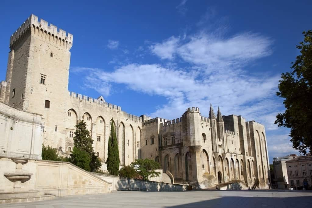 Papal Palace in Avignon, beautiful french castles