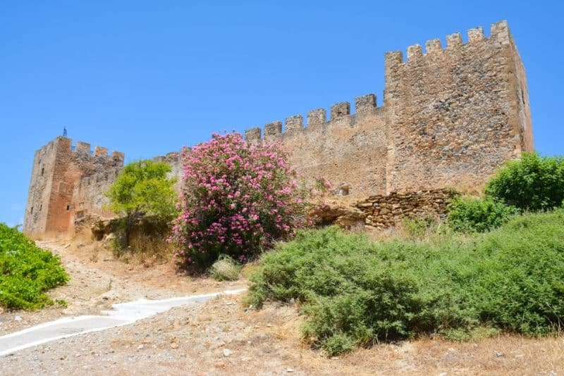 The fortress of Frangokastello in Crete