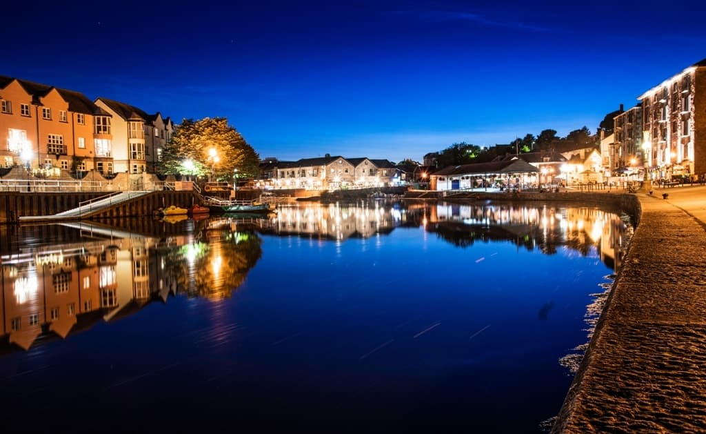Exeter Quay by Night - Places to visit in Devon
