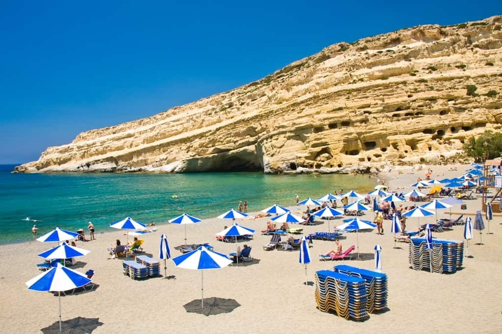 Things to do in Crete - Matala Beach