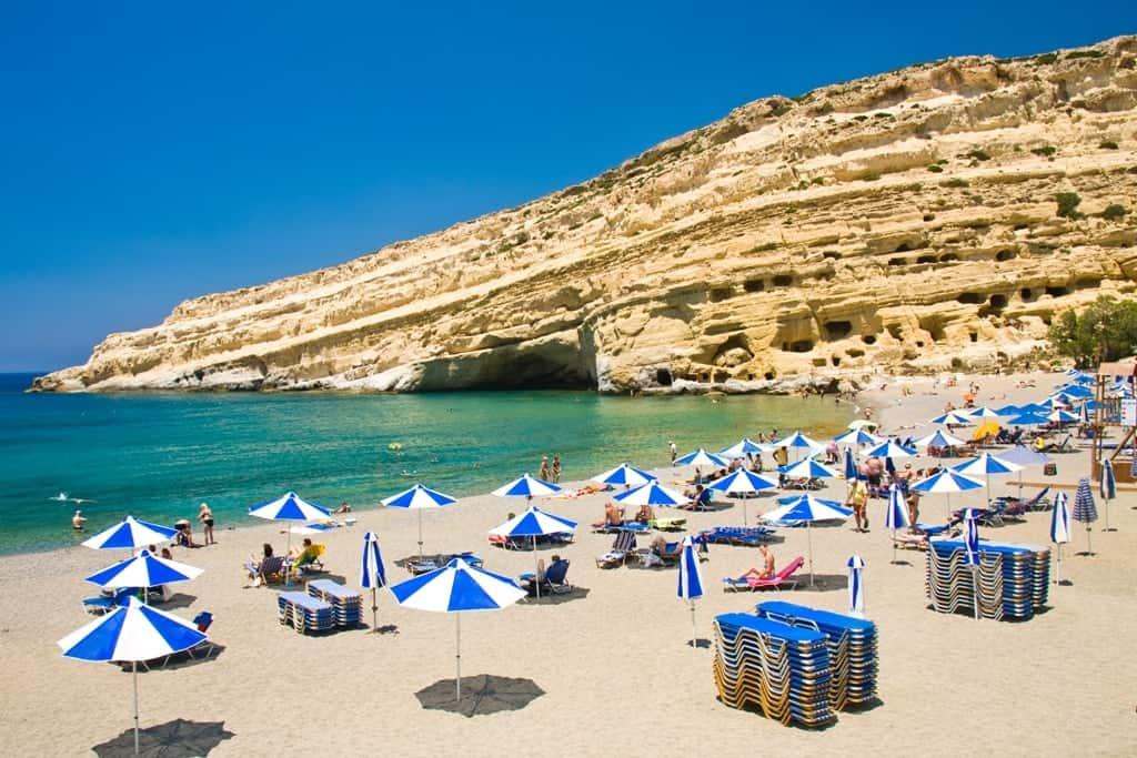 Things to do in Crete - Matala Beach