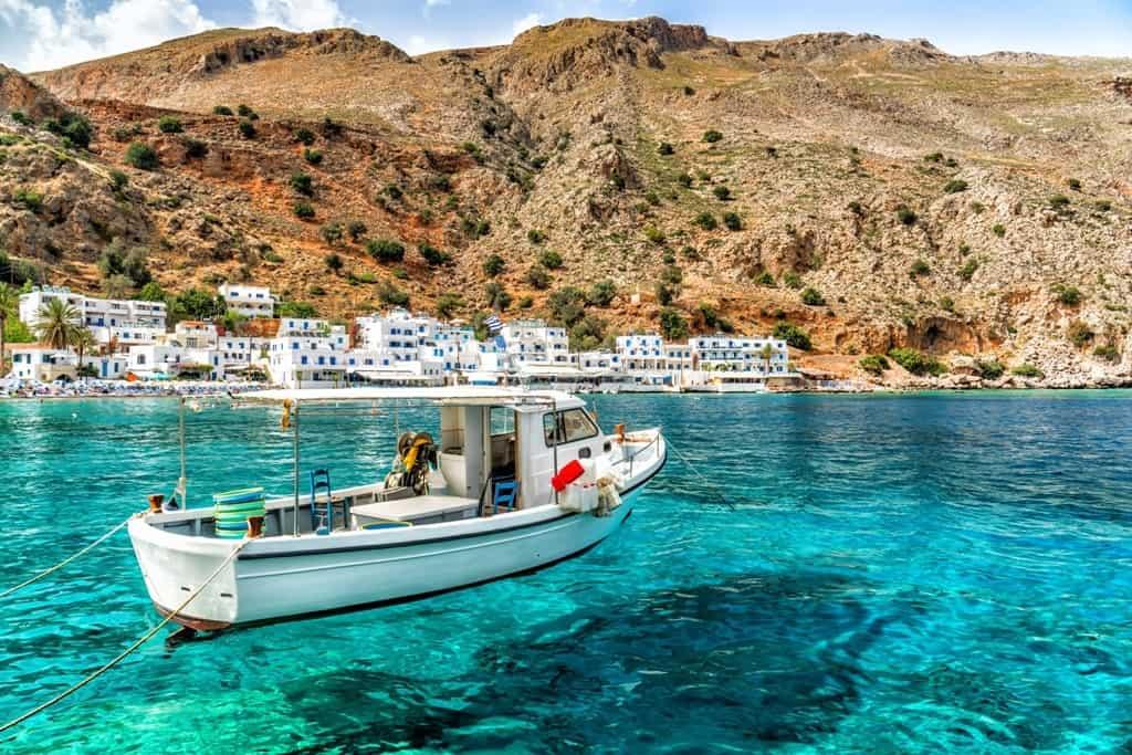 Loutro - a seaside village in Crete, Greece