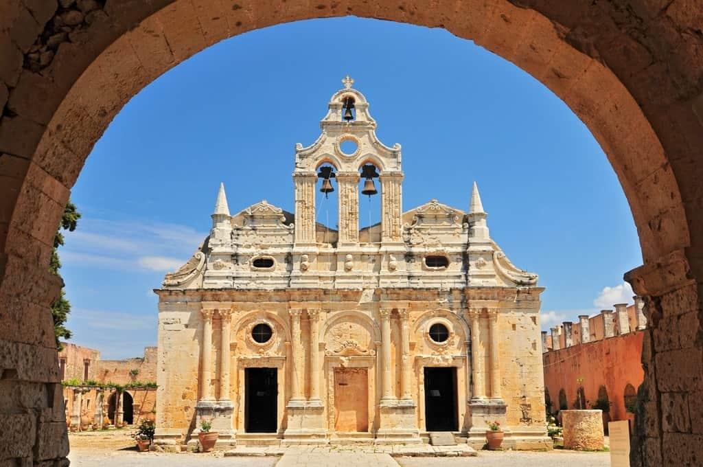 The main church of Arkadi Monastery - things to do in crete
