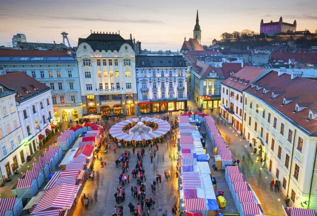 Best places to spend Christmas in Europe - Bratislava