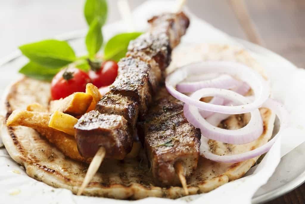Greek souvlaki - famous greek dish