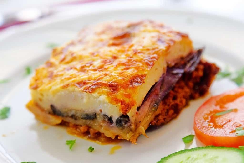 moussaka - popular Greek dish