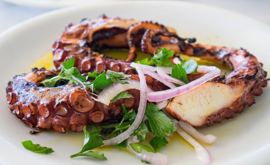 Grilled Octopus - what to eat in Greece