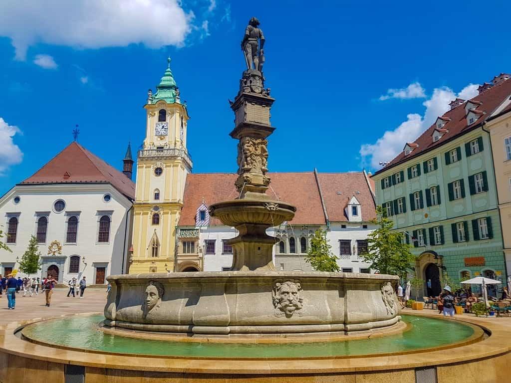 Bratislava Main Square - One day in Bratislava