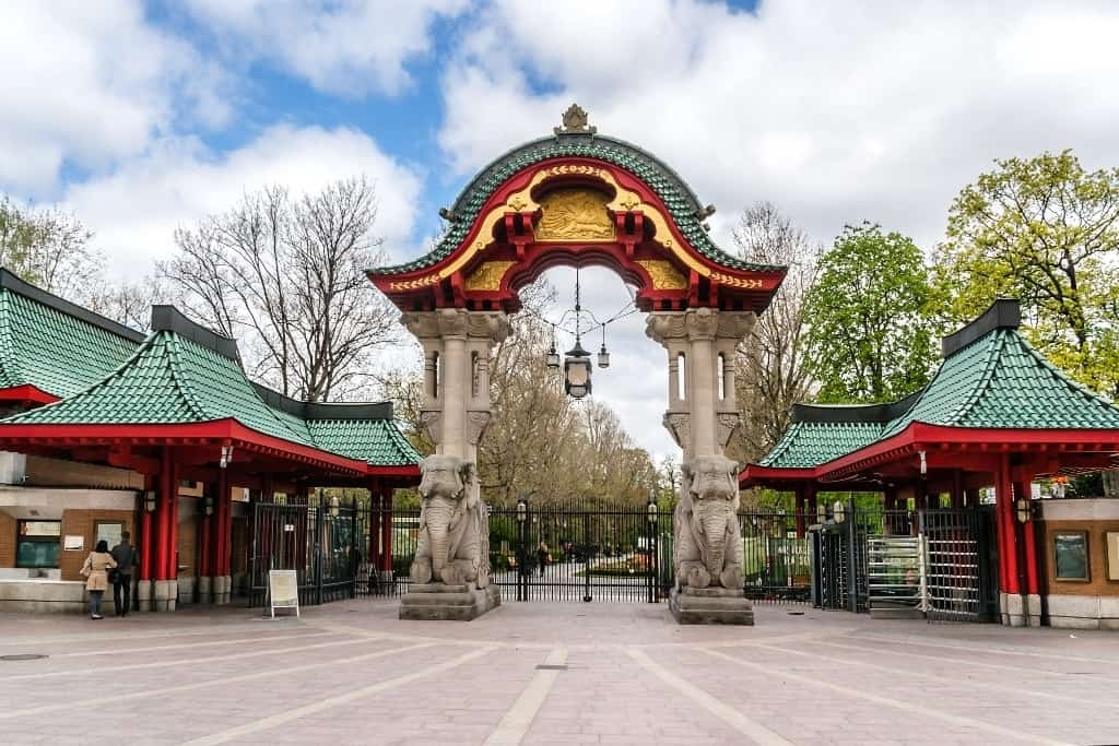 Famous entrance at Zoological garden in Berlin - four days in Berlin