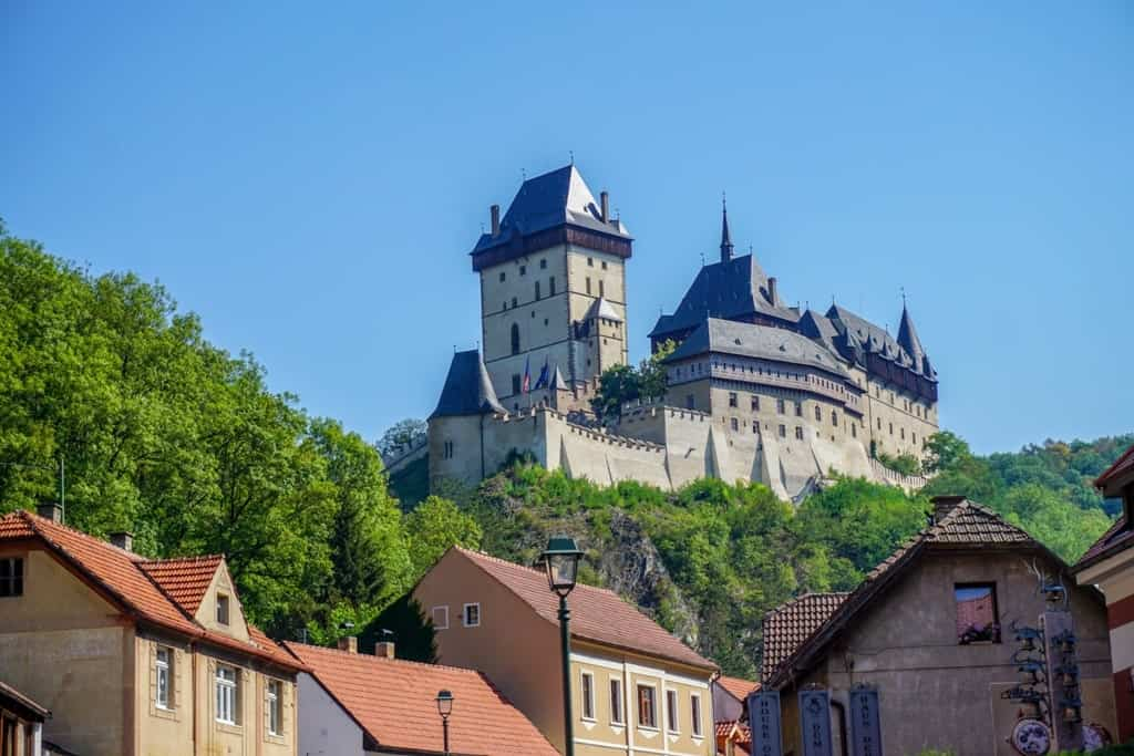 Karlštejn Castle - castles to visit in Central Bohemia Czech Republic
