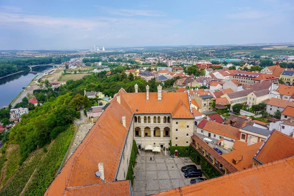Mělník Chateau castles in central Bohemia Czech Republic