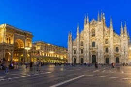 Night view of Milan Cathedral - One day in Milan