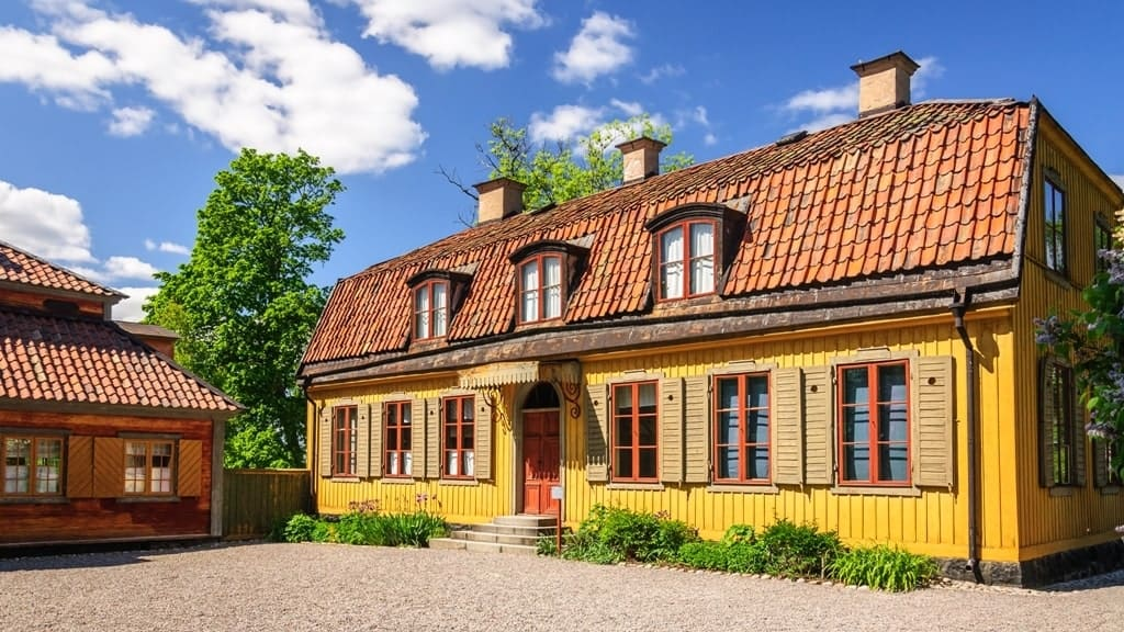 The replica of traditional Sweeden house in Skansen museum, Stockholm - 3 days in Stockholm